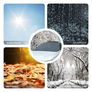 Image 5 - 210*120cm Automobile Magnetic Sunshade Cover Car Windshield Snow Sun Shade Waterproof Protector Cover Car Front Windscreen Cover
