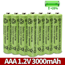 AAA 3000mAh 3A 1.2V Ni-MH yellow rechargeable battery cell for MP3 RC Toys led flashlight flashlight