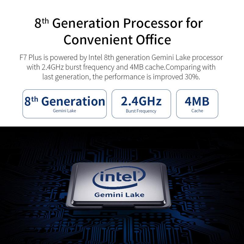 Teclast F7 Plus Laptop Notebook Windows 10 OS Ultra Thin 14 inch 1920 x 1080 Intel Gemini Lake N4100 Quad Core 8GB RAM 256GB SSD 5