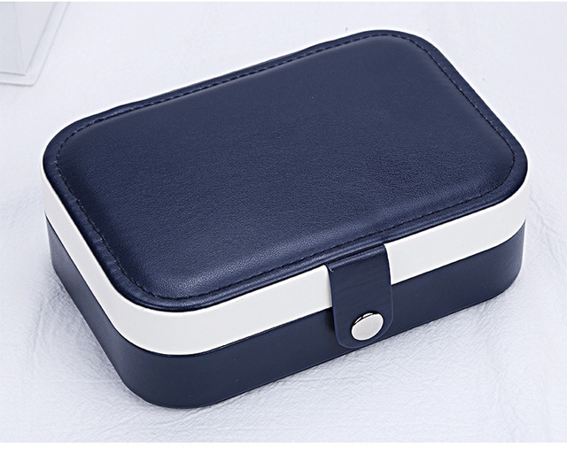 3 Colors Jewelry Organizer Display EarringsTravel Jewelry Case Boxes Portable Jewelry Box Zipper Leather Storage Zipper