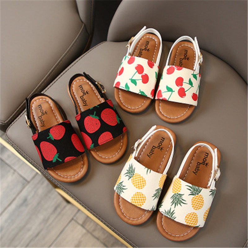 100% Soft Leather Children Casual Sandals Summer New Boys Girls Beach Shoes Kids Sport Sandals Baby Toddler Shoes Princess Shoes
