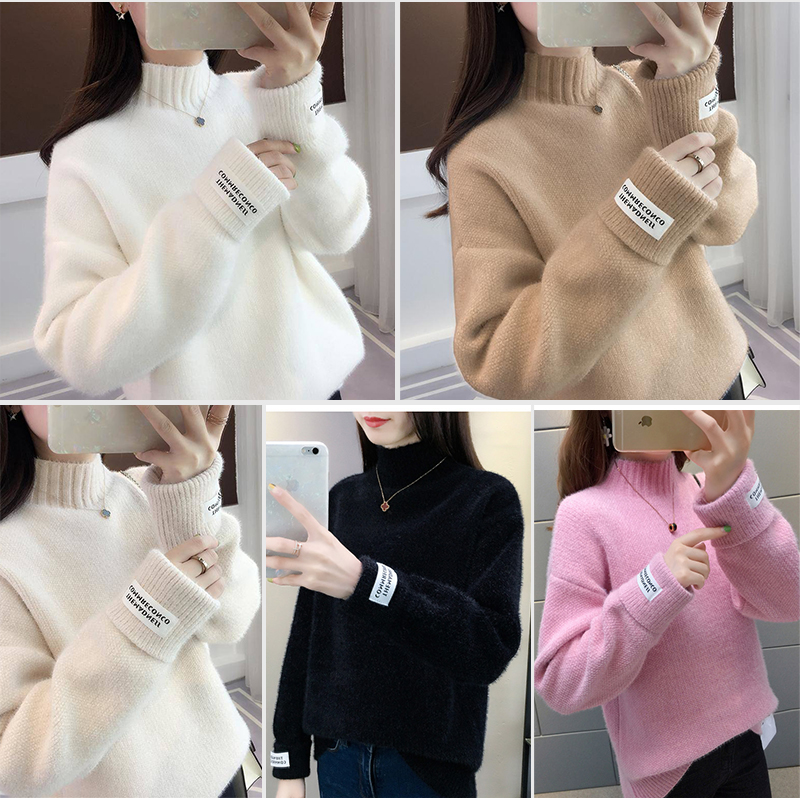 SURMIITRO Knitted Warm Sweater Female For Autumn winter 19 Ladies Long Sleeve Women Turtleneck Tricot Pullover Blue Jumper 4