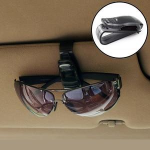 Car Glasses Holder Auto Vehicle Visor Sunglass FOR mitsubishi lancer 10 renault logan cruze bmw e46 granta kia cerato priora(China)