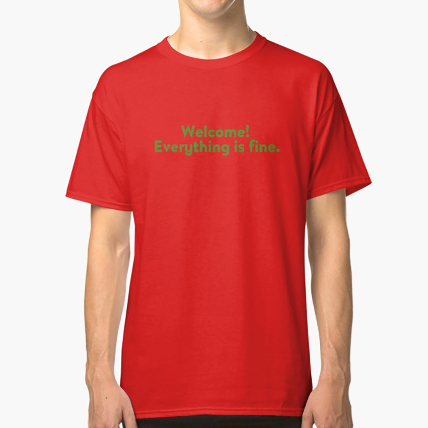 Everything is fine T shirt the good place nbc eleanor shellstrop tv typography image