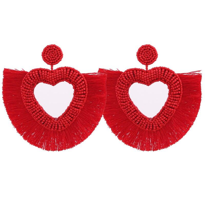 Tassel Boho Earrings For Women Fashion Jewelry Bohemian Star Gifts Face African Dangle Drop Boho Earings Long Punk Vintage New (8)