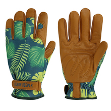 Flexible Gardening Gloves Water Resistant Roses Pruning and planting Cowhide Leather Working Glove недорого