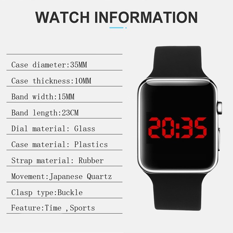 2020 Sport Casual Watches Men Women Led Silicone Watch Lovely Digital Sports Wristwatch Children Clock Bayan Kol Saati 6