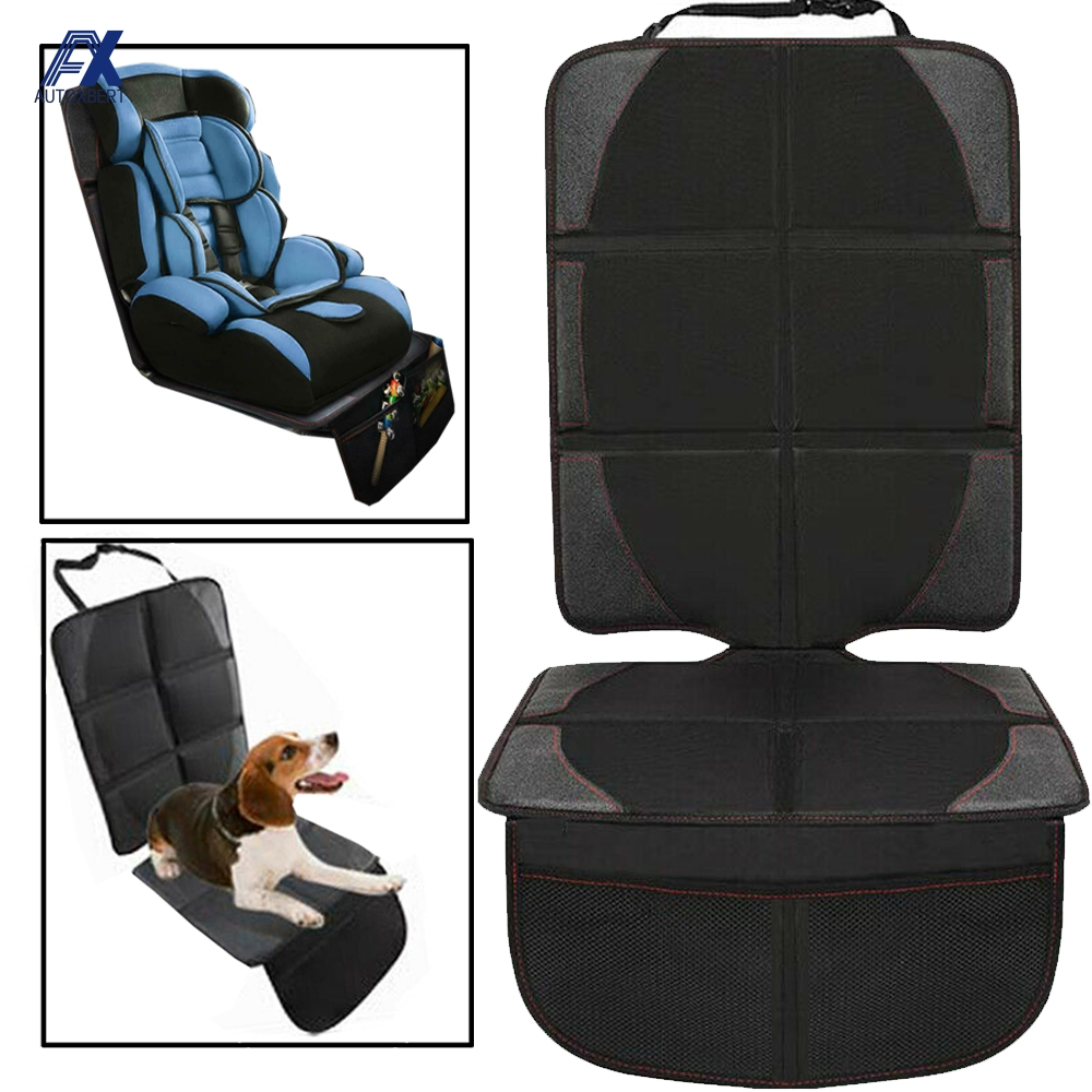 Car Seat Cover Child Children Kids Safety Seat Protective Sheet Mat Pad Auto Baby Seat Protector Pet Dirt Kick Mat Organizer BLK