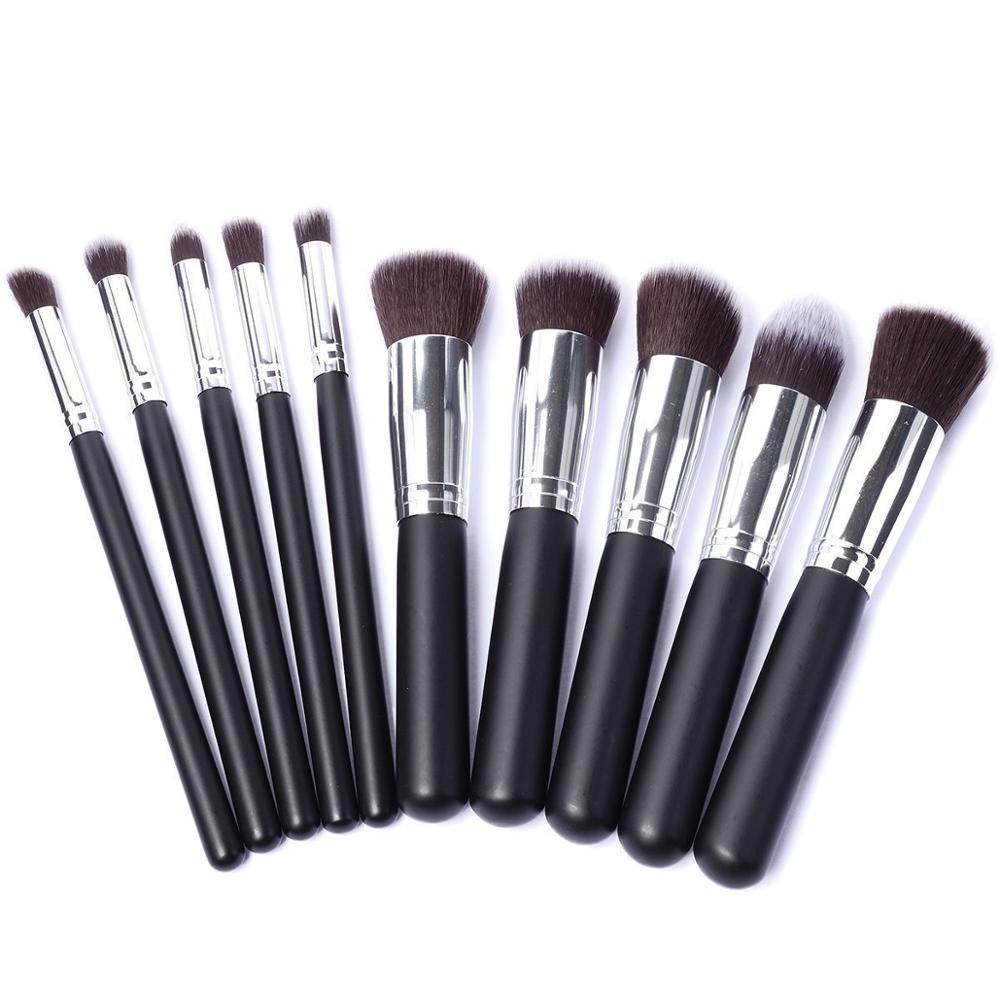 Набор кистей для макияжа YSDO, 10 шт., держатель кистей для пудры, набор инструментов для мягкой кисти, подводка для глаз, мягкий набор кистей дл...