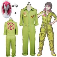 Super DanganRonpa Kazuichi Souda Cosplay Costume Full Set Men's Women's Jumpsuit Customized and Wig Halloween Costume