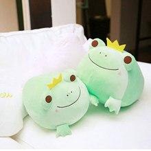 Kawaii sapo de pelúcia sapo animais de pelúcia brinquedos almofada travesseiro de enchimento para abraços super macio abraçando bonito plushie sapo kawaii plushie