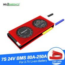 גבוהה הנוכחי bms 7S 24V BMS 80A 100A 150A 200A 250A עבור 18650 26650 ליתיום סוללות עבור קטנוע עם גוף קירור