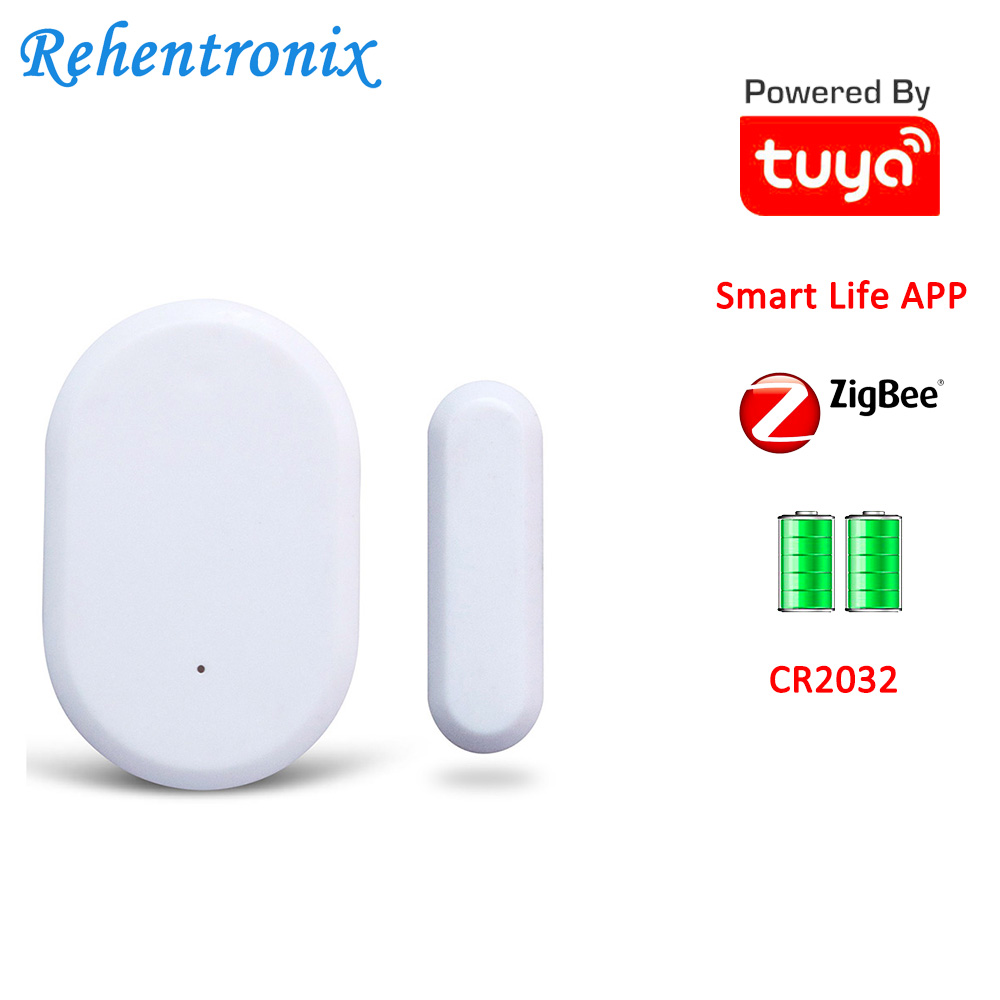 Battery Operated Tuya Smart ZigBee Door Window Contact Sensor Smart Life Security System Working 2 Years