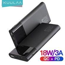 Kuulaa powerbank 10000mah qc pd 3.0 banco de potência carregamento rápido poverbank carregador portátil para xiaomi mi 9 8 iphone 11 x pawer banco