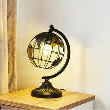 Скандинавская простая настольная лампа железный шар прикроватная
