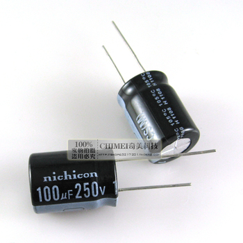 Free Delivery. Electrolytic capacitor 100 uf 250 v 16 * 16 x25mm capacitor size 25 mm image