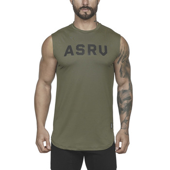 Men Sleeveless Running Sport Tshirts Workout Fitness Breathable Quick Dry Gym Training Sportswear Round Collar Male Tank Top 1