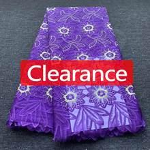 Tissu africain en dentelle, broderie française de haute qualité, Tulle, tissu nigérian pour robe de mariée, liquidation