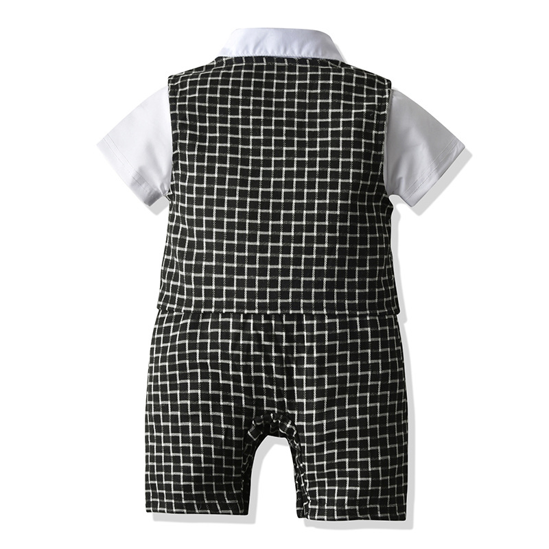 Baby Boys Clothes Summer Baby Romper Gentleman Baby Jumpsuit Tie Vest Jacket  Clothes Kids Costume For Newborn Overalls Clothes