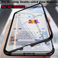 Double Side Magnetic Adsorption Case For Samsung Galaxy S20 S10 Note 8 9 10 S8 S9 Plus S20 Ultra S10E A50 A70 A51 A71 A81 Cases