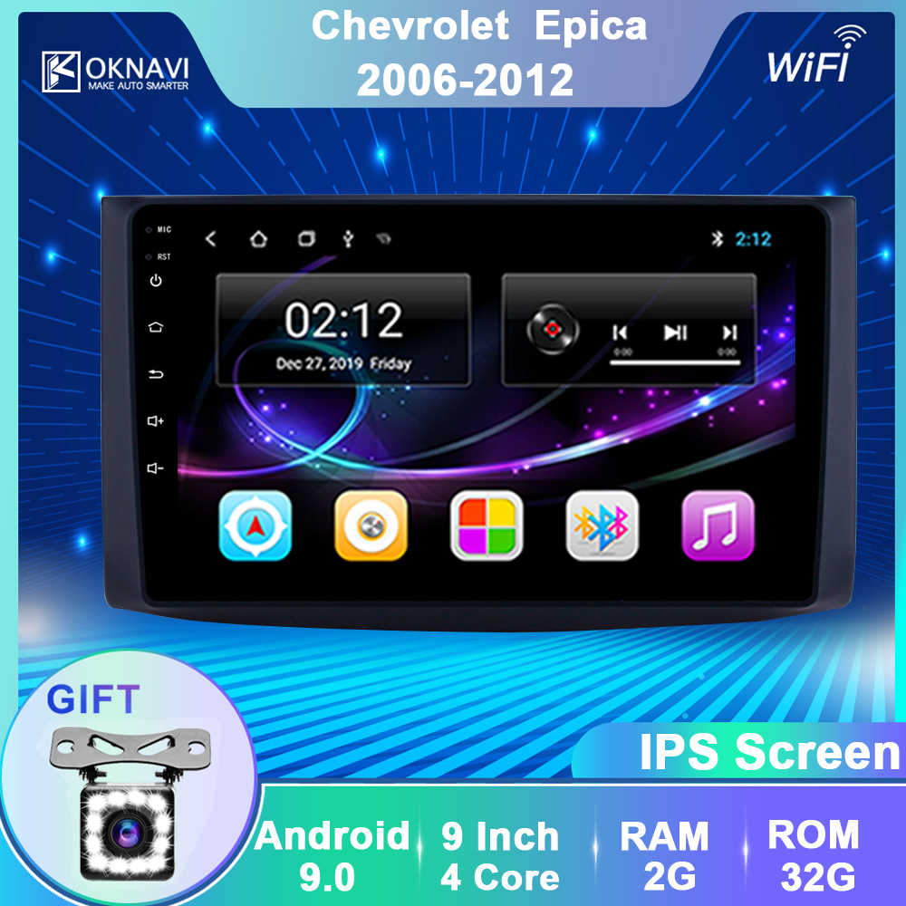 OKNAVI Car Multimedia Video Player Android 9.0 Per Chevrolet Lova Captiva Gentra Aveo Epica di Navigazione GPS Radio Stereo Wifi BT