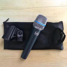 Qualidade superior versão beta57 profissional beta57a karaoke handheld dinâmico microfone com fio beta 57a 57 um microfone
