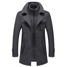 Мужская шерстяная куртка сезон зима осень мужское длинное ветрозащитное