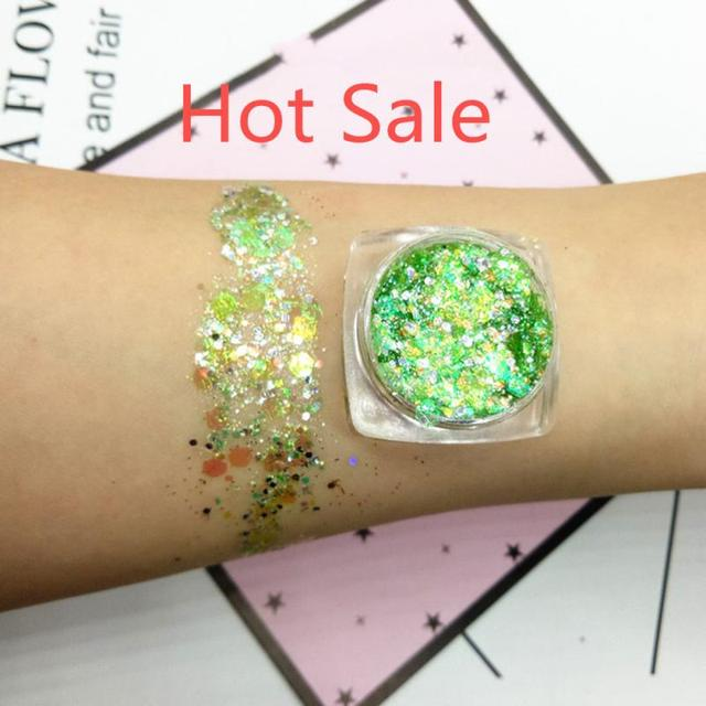 19 Colors Mermaid Sequins Glitter Eye Shadow Jelly Glitter Gel Makeup Cosmetics Waterproof Lasting Shimmering Eye shadow TSLM1 3