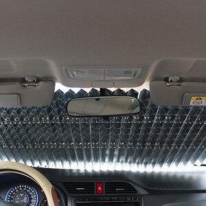 Image 5 - Rétractable voiture fenêtre pare brise pare soleil pliable Auto pare soleil couverture bouclier rideau pare soleil bloc Anti UV voiture accessoires