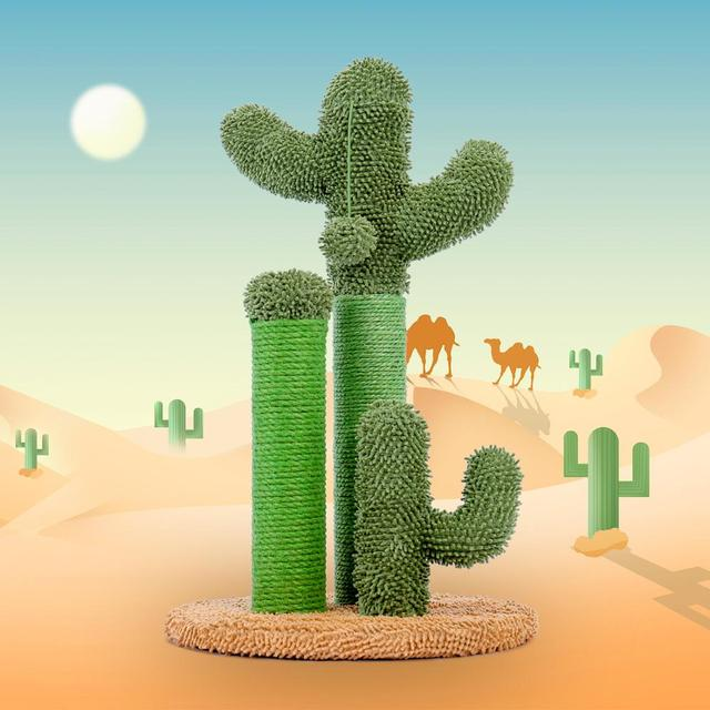 Cute Cactus Cat Tree Toy House Climbing Stratching Posts for Cat Kitten Funny Jumping Toy когтеточка rascador gato 2