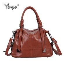 YBYT Oil wax Leather women boston bag luxury handbags bags designer fashion vintage shoulder crossbody messenger