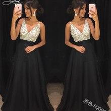 SERMENT элегантное шифоновое вечернее платье с блестками Глубокий v-образный вырез сексуальное платье с открытой спиной подходит для формального банкета бала