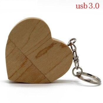 TEXT MEmaple wood Walnut heart +box model usb3.0 32GB usb flash drive usb3.0 pendrive 4GB 8GB 16GB  LOVE best gift