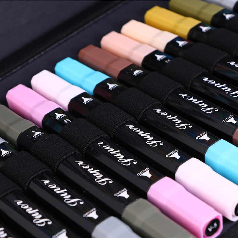 Big MARKER ปากกาโรงเรียนดินสอขนาดใหญ่ Professional 48/80/120/168/216 หลุมกล่องปากกาสำหรับหญิงชาย Pencilcase Art Cartridge กระเป๋า