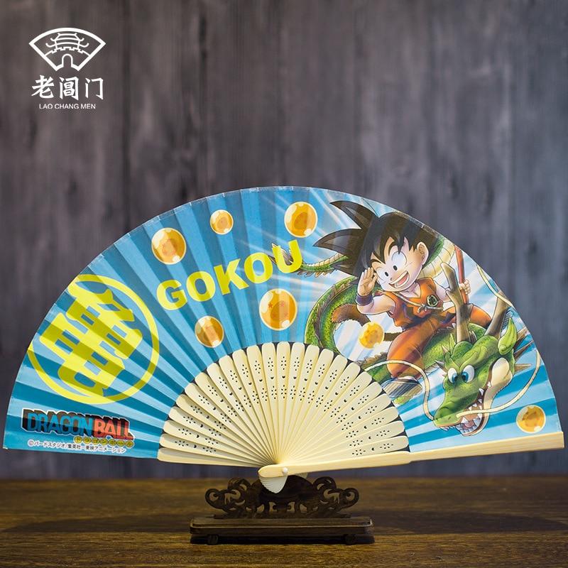 DRAGON BALL Fan Anime Cartoon Paper Folding Fan Japanese Wooden Fan Summer Home Decoration Christmas Children's Day Gift