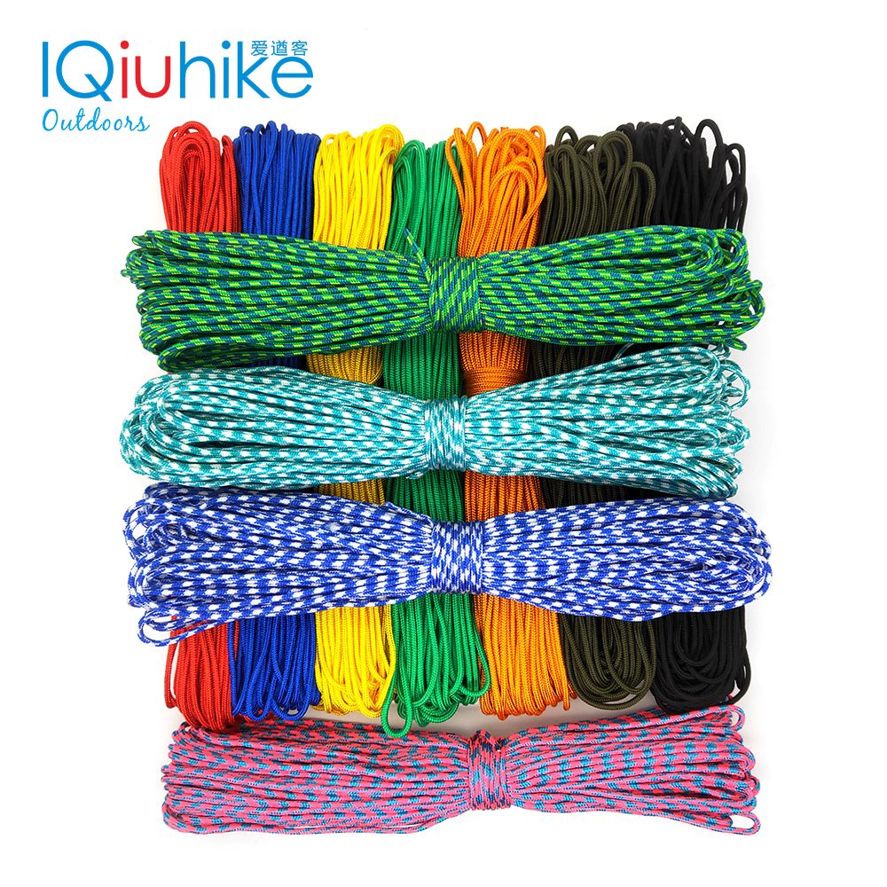 2019 NEW 100 Colors Paracord 2mm 100 FT,50FT ,25FT One Stand Cores Paracord Rope Paracorde Cord For Jewelry Making Wholesale
