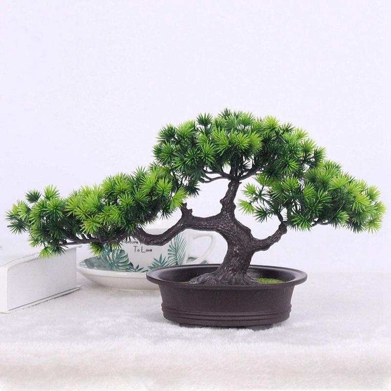 Simulation Bonsai Small Tree Safe Healthy Non-Toxic Environmentally Flower Ornaments,Mini Tree Bonsai Simulation Artificial Potted Plant Ornament for Home Decor Green