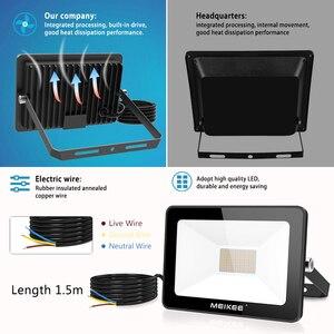 Image 5 - 60W SMD LED 홍수 빛 방수 AC220V LED 투광 조명 프로젝터 반사판 램프 야외 스포트 라이트
