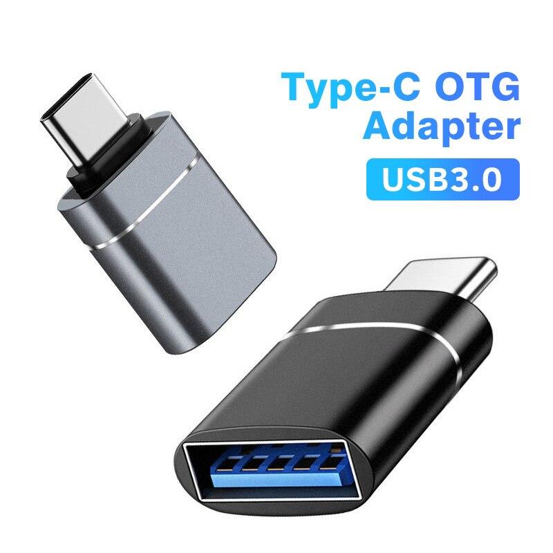 ANMONE סוג C כדי USB 3.0 OTG מתאם USB-C זכר ל-usb נקבה ממיר עבור Macbook סמסונג S20 Xiaomi Huawei USBC OTG מחבר