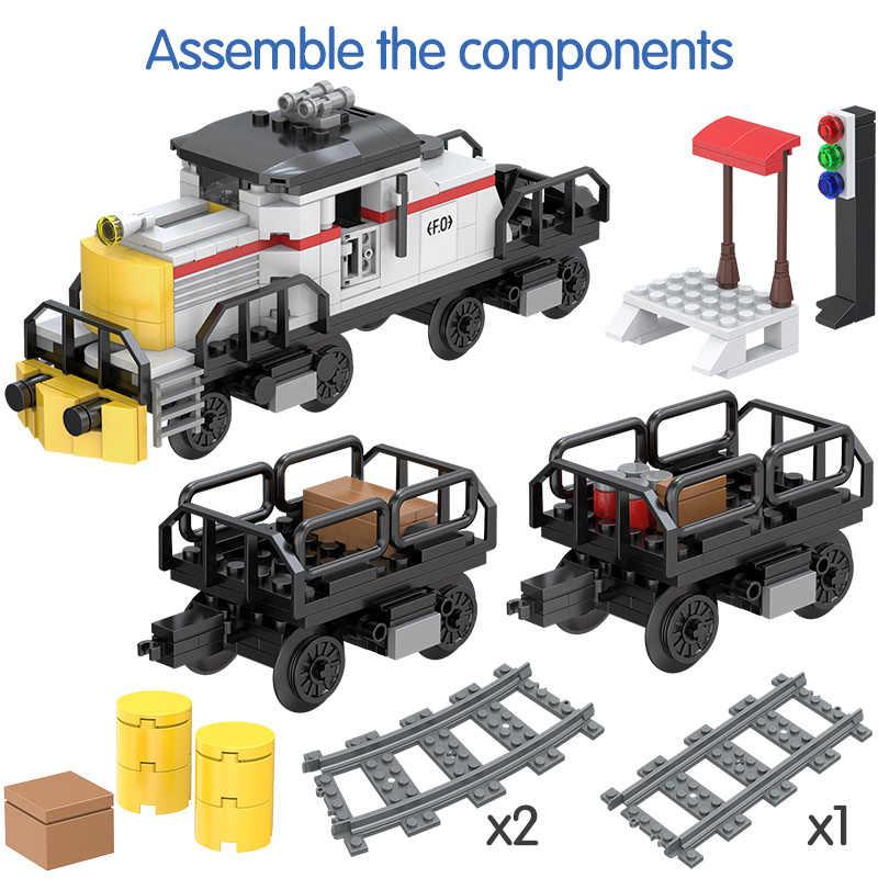 Rails blocs de construction de Train de puissance compatibles chiffres de Train de voie de ville compatibles Legoing Technic briques à monter soi-même jouets pour cadeaux d'enfant