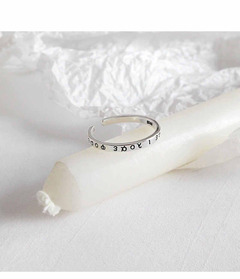 Thật Nhẫn Bạc 925 Nữ 2019 Chữ Cái Hy Lạp Vintage Cho Nữ, Nhẫn Nữ Khớp Vòng Nhỏ anillos plata 925 para mujer