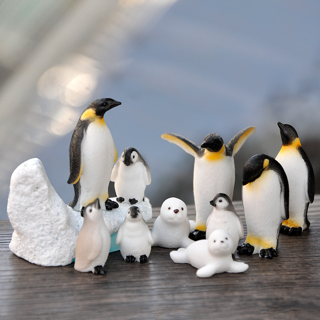 BAIUFOR DIY Mini Penguin Iceberg Seal Model, Winter Figure, Miniature Figurine Toy for Children Gift Birthday Home Decoration 2