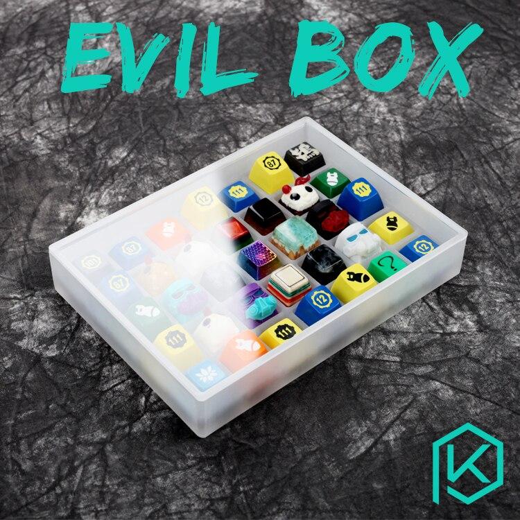 [Sadece box] evil kutusu akrilik keycaps kutusu 7x5 klavye sa gmk oem kiraz dsa xda keycaps kutusu klavye tuş takımı seti stok koleksiyonu