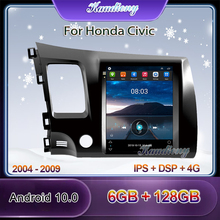 "Kaudiony 10.4 ""Tesla Stil Android 10,0 Auto Radio Für Honda Civic Auto Multimedia Player Auto GPS Navigation 4G DSP 2004   2009"