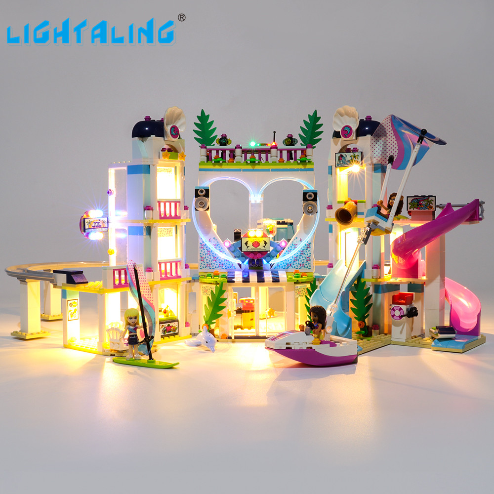 Lightaling Led Light Kit For 41347 Friends Series Heartlake City Resort Building Blocks Compatible With Model 01068/37086/11035
