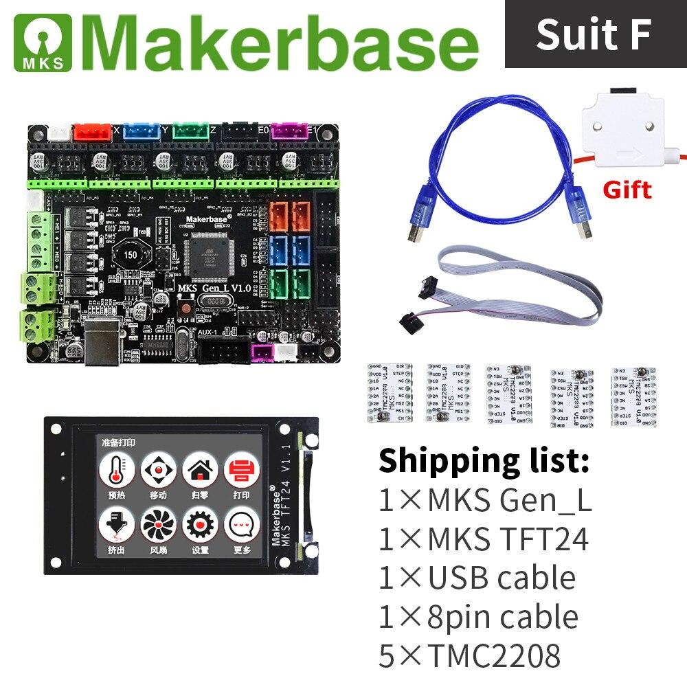 3d Printer Controller Kit Mainboard MKS GEN L V2.0 + MKS TFT 24  Touch Screen Colorful Display + Stepstick Stepper Motor Driver