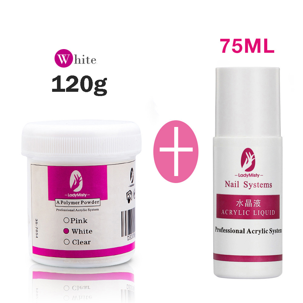 120ml Acrylic Powder Clear Pink White Carving Crystal Polymer 3D Nail Art Crystal Powders Builder Gel Tips Builder for Nails 16