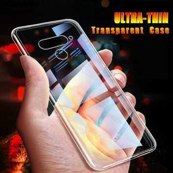 Ultra cienki przezroczysty miękki etui na LG Q60 Q7 Q6 G8 G7 G6 K41s K51s K30 2019 K20 K50s K50 K40s K40 K12 Plus K9 etui na telefon tanie i dobre opinie misfault CN (pochodzenie) Pół-owinięte Przypadku Soft Transparent Case