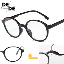 Fashion Women Glasses Frame Men Eyeglasses Vintage Round Clear Lens Optical Spectacle E066