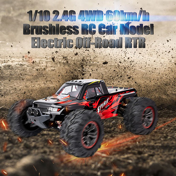 1/10 2.4G 4WD Brushless RC Car Remote Control Car Toy High Speed 60km/h Vehicle Models Toys Electric Off-road Racing Car 1